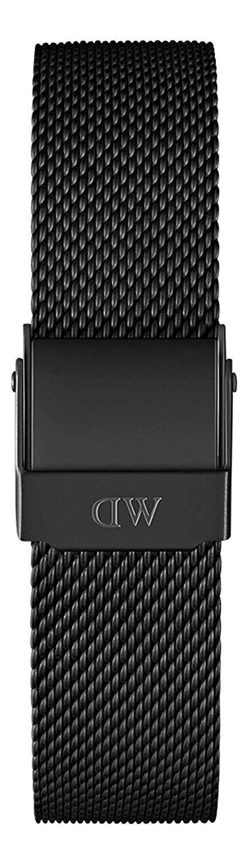 Cinturino Classic Petite Ashfield Acciaio Nero Donna 14mm DW00200165 - DANIEL WELLINGTON