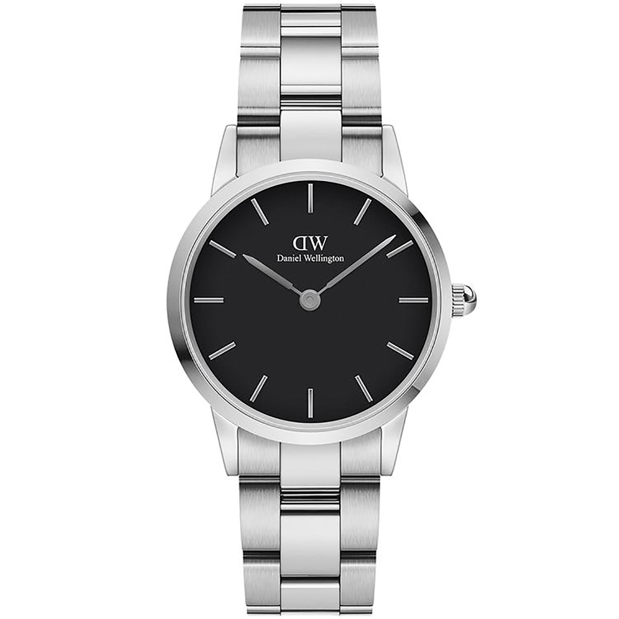 Orologio Iconic Link 28mm Nero Donna DW00100208 - DANIEL WELLINGTON