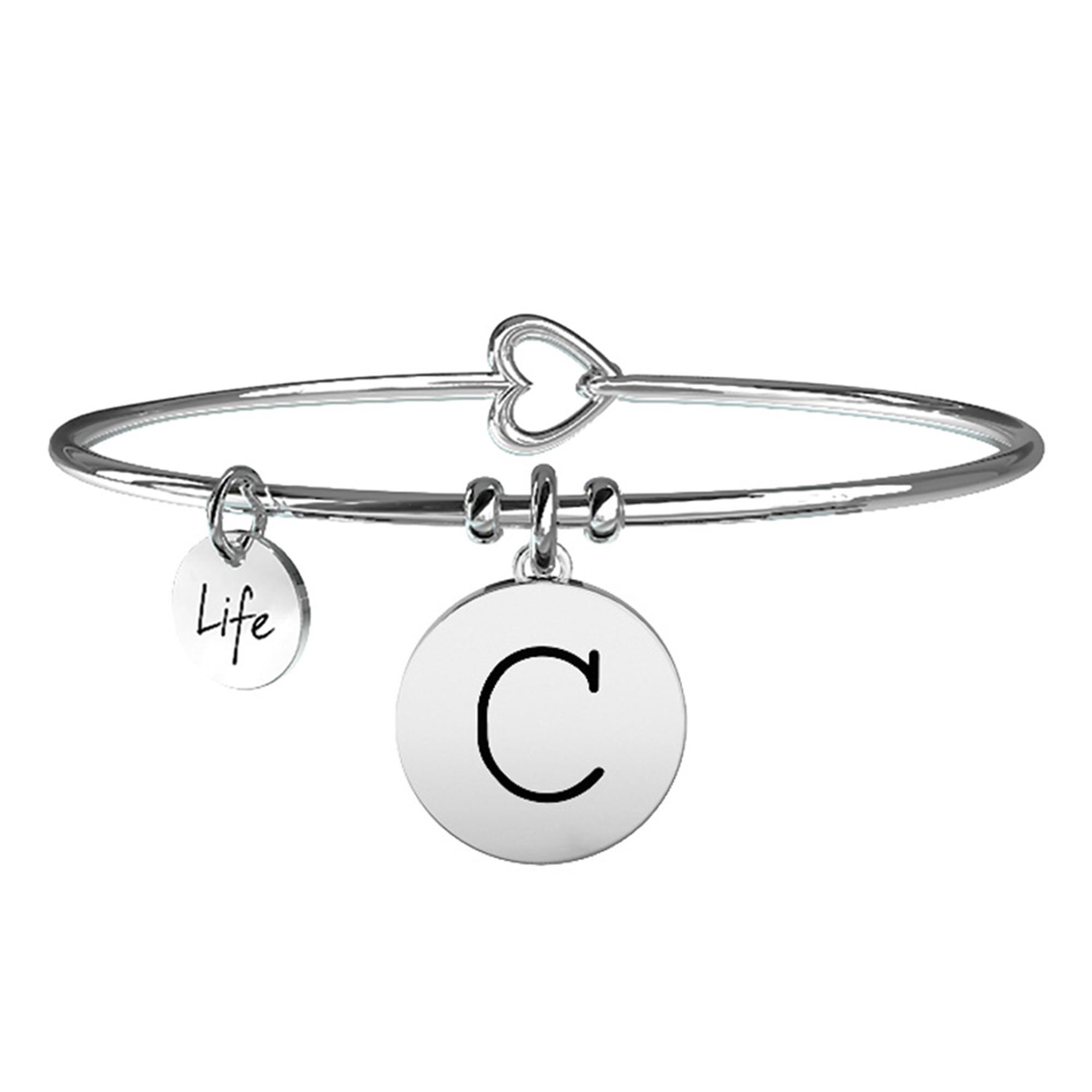Bracciale Lettera C Symbols Iniziale Emozioni Acciaio Donna 231555C - KIDULT