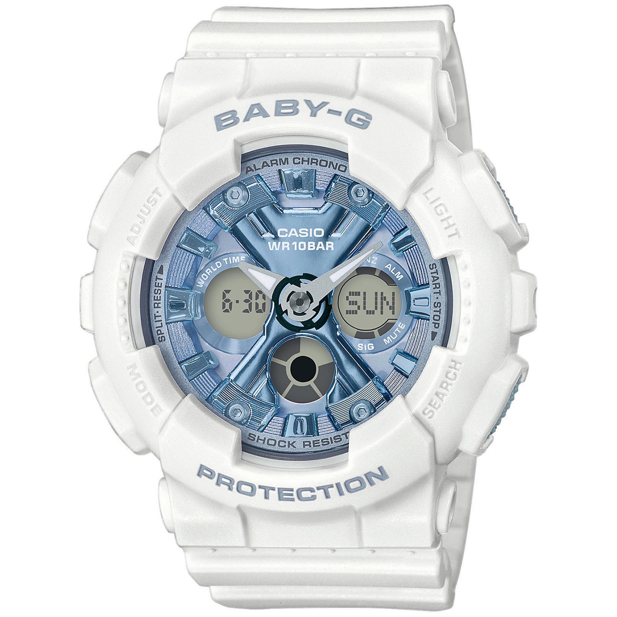 G-Shock Baby G Bianco Anadigit Donna Gomma BA-130-7A2ER - CASIO