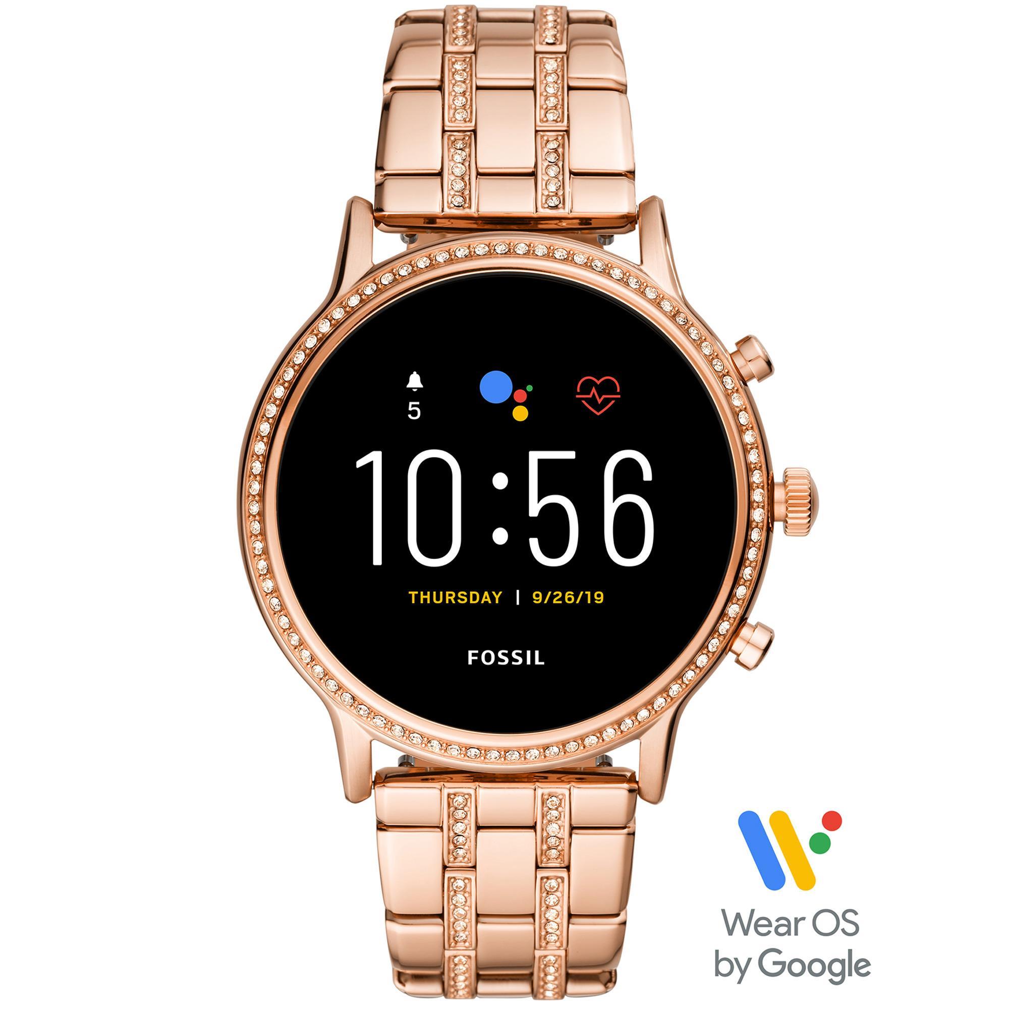 Smartwatch Gen 5 Julianna HR con bracciale in acciaio tonalità oro rosa - FOSSIL