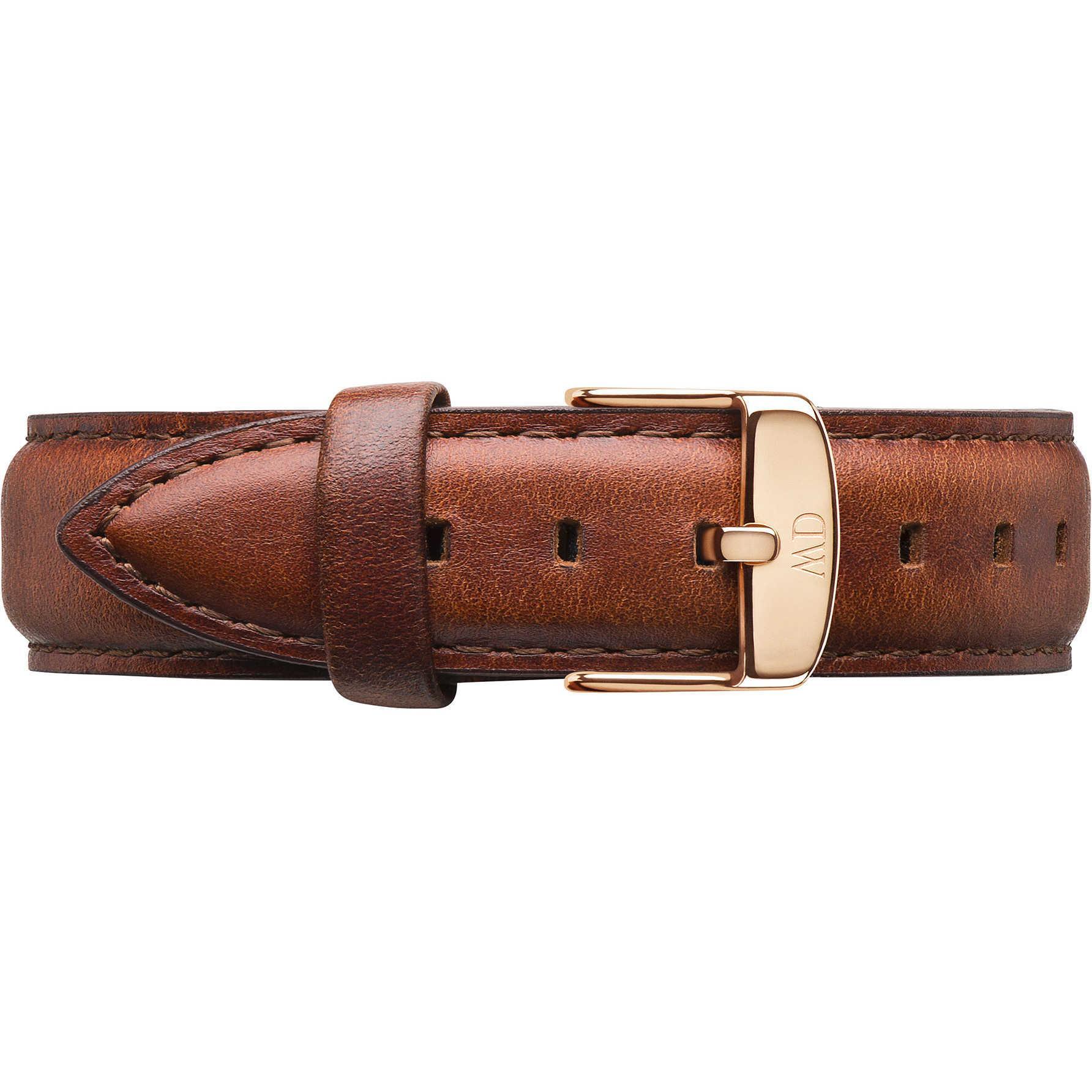 Cinturino Classic Petite St Mawes Pelle Marrone Donna Oro Rosa 14mm DW00200145 - DANIEL WELLINGTON