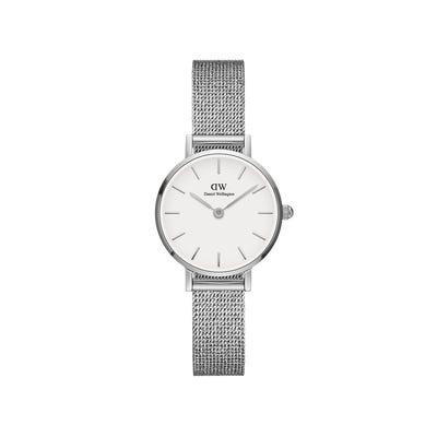 Orologio Petite 24mm Pressed Sterling Silver White - DANIEL WELLINGTON