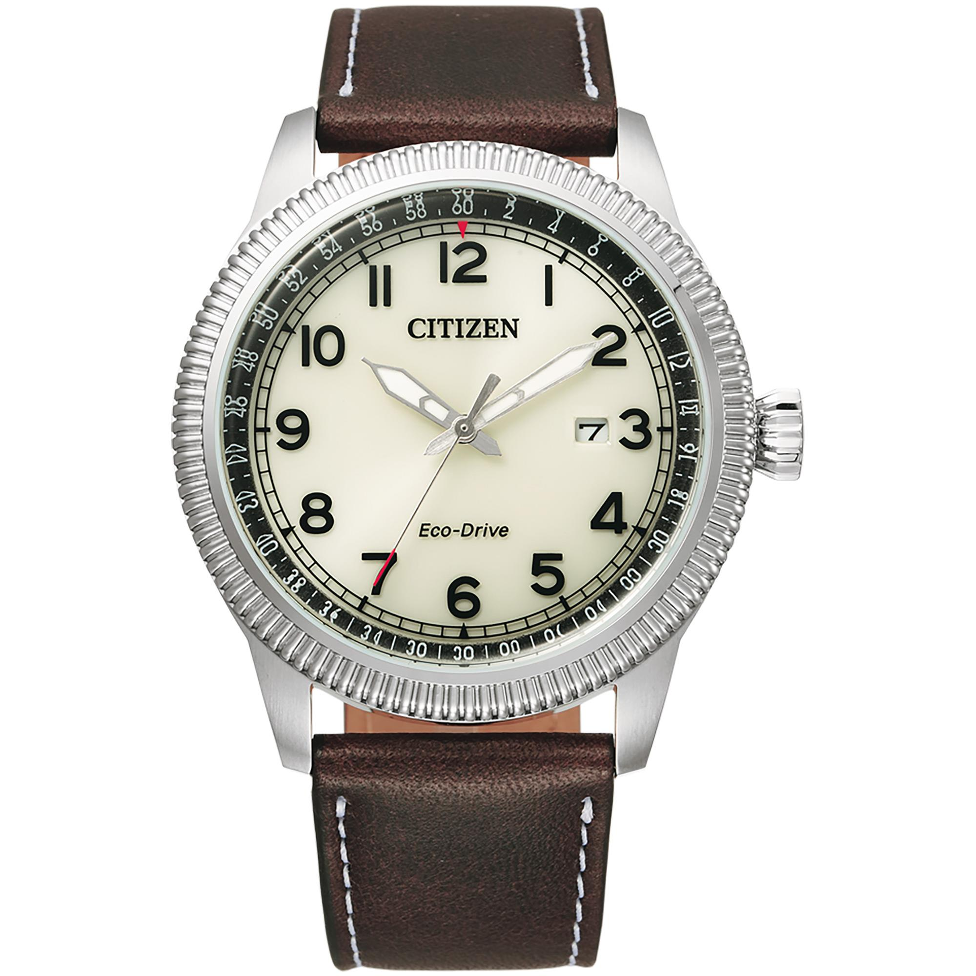 Orologio Aviator Of Collection Uomo Pelle - CITIZEN