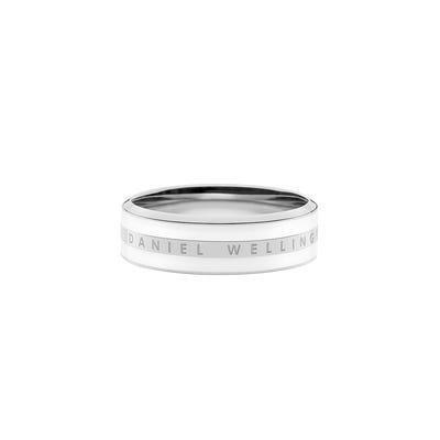 Anello Classic Ring Satin White Silver 52 Unisex  DW00400048 - DANIEL WELLINGTON