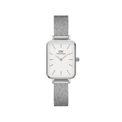 Orologio Quadro 20X26 Pressed Sterling Silver White - DANIEL WELLINGTON