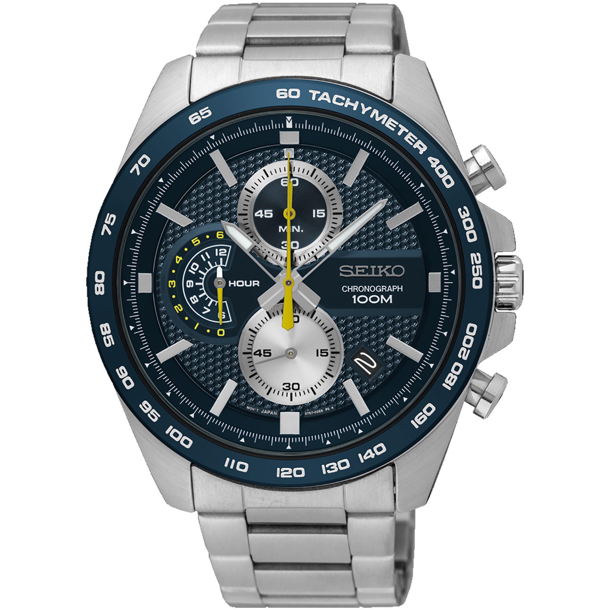 Orologio Cronograph Acciaio Uomo Blu e Giallo - SEIKO