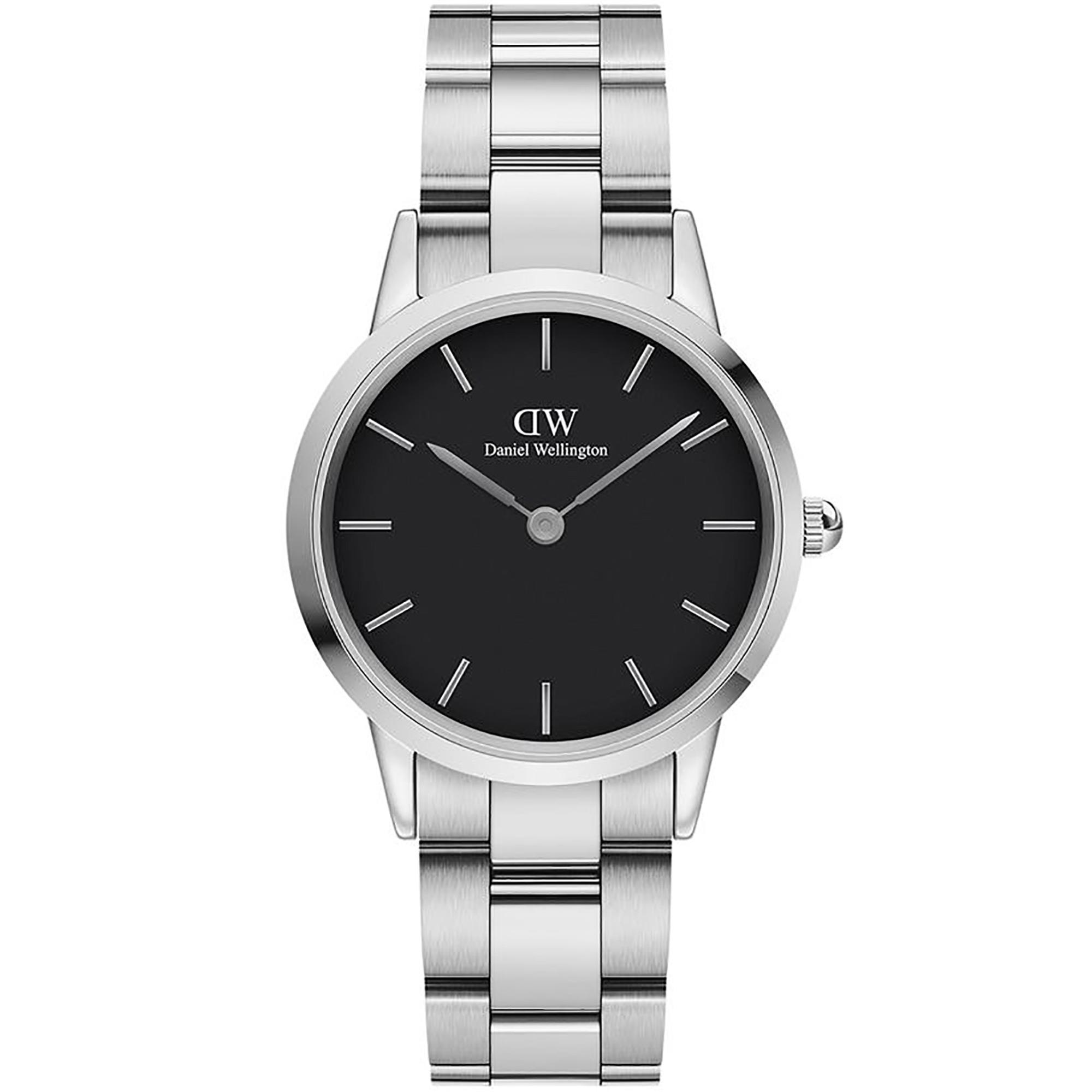Orologio Iconic Link 32mm Nero Donna DW00100206 - DANIEL WELLINGTON
