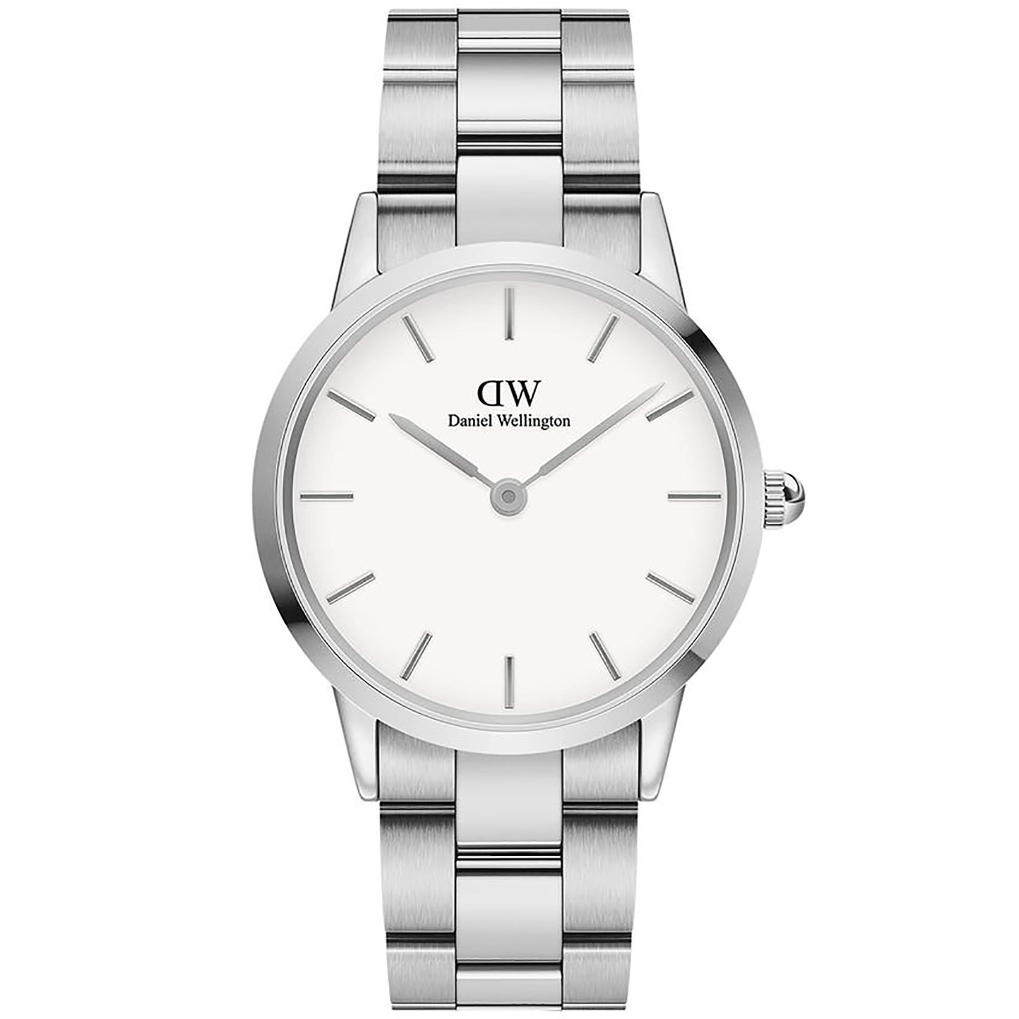 Orologio Iconic Link 36mm Bianco Acciaio DW00100203 - DANIEL WELLINGTON