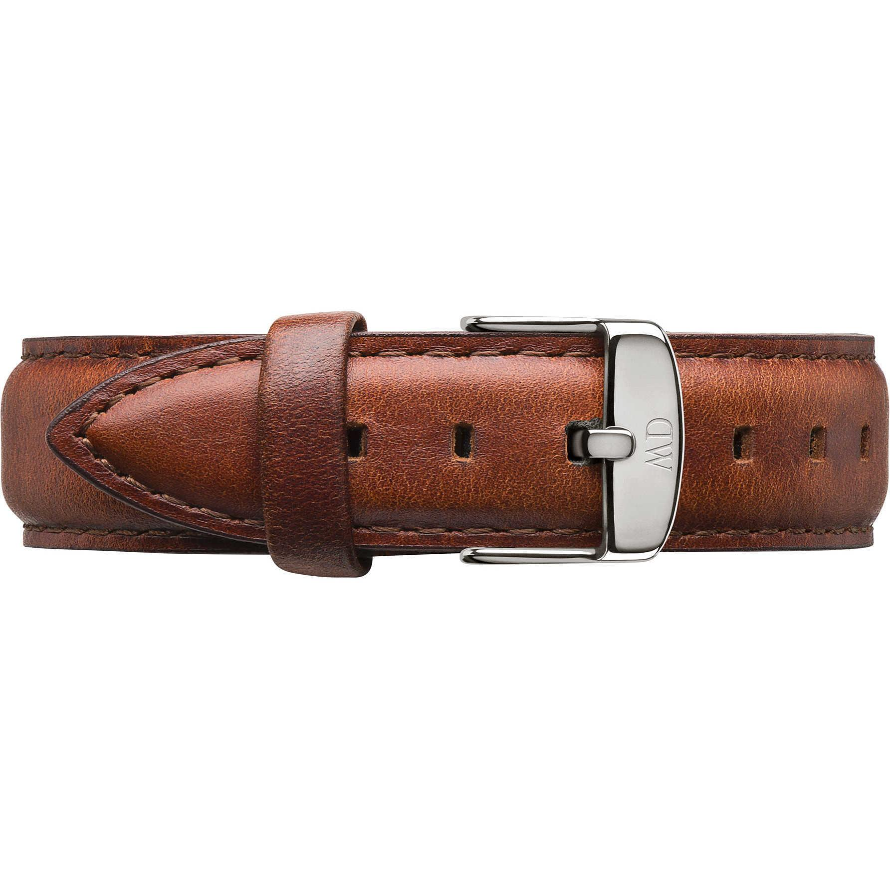 Cinturino Classic Petite St Mawes Pelle Marrone Donna Argento 14mm DW00200151 - DANIEL WELLINGTON
