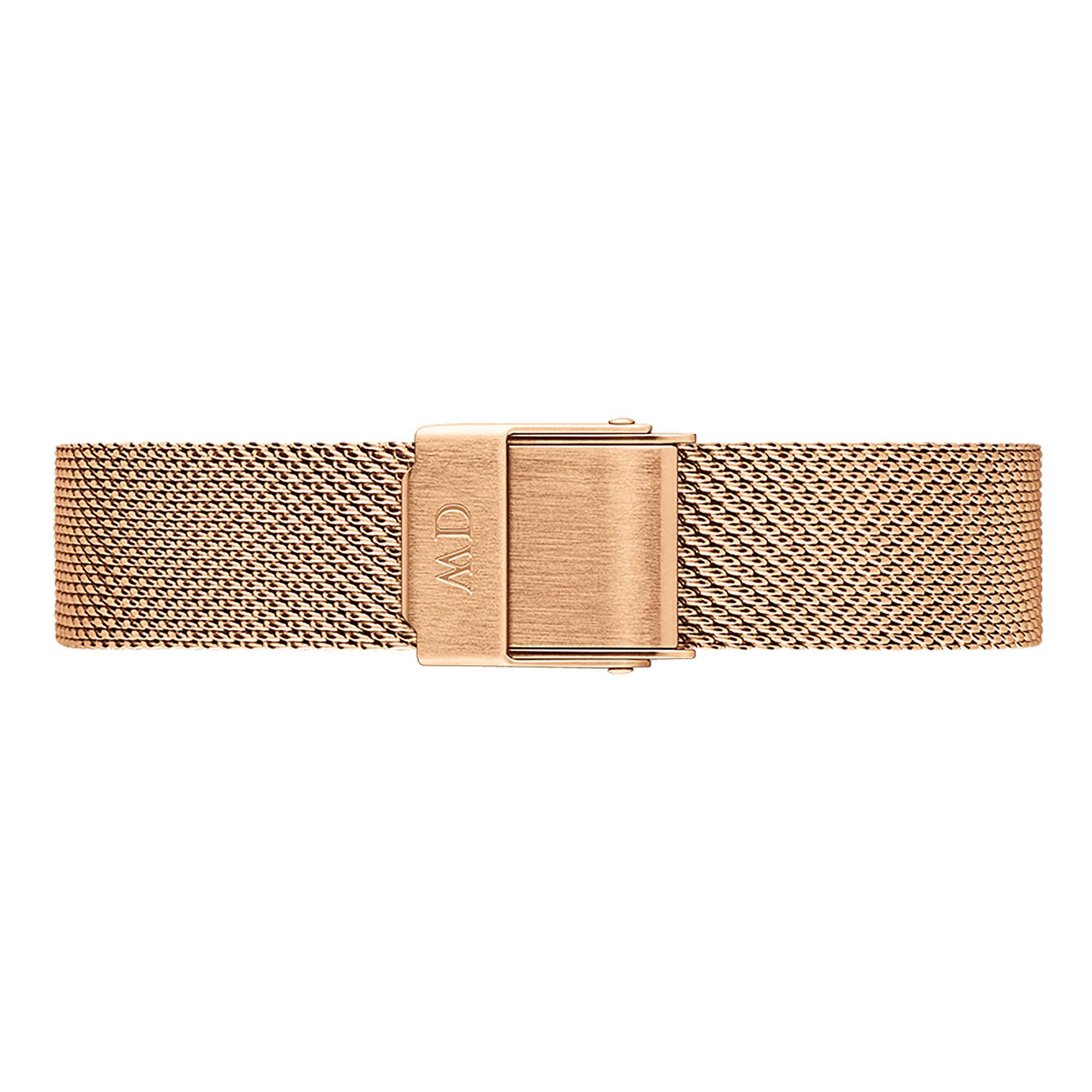 Cinturino Petite Merlose 12 mm Oro Rosa Acciaio Donna DW00200192 - DANIEL WELLINGTON