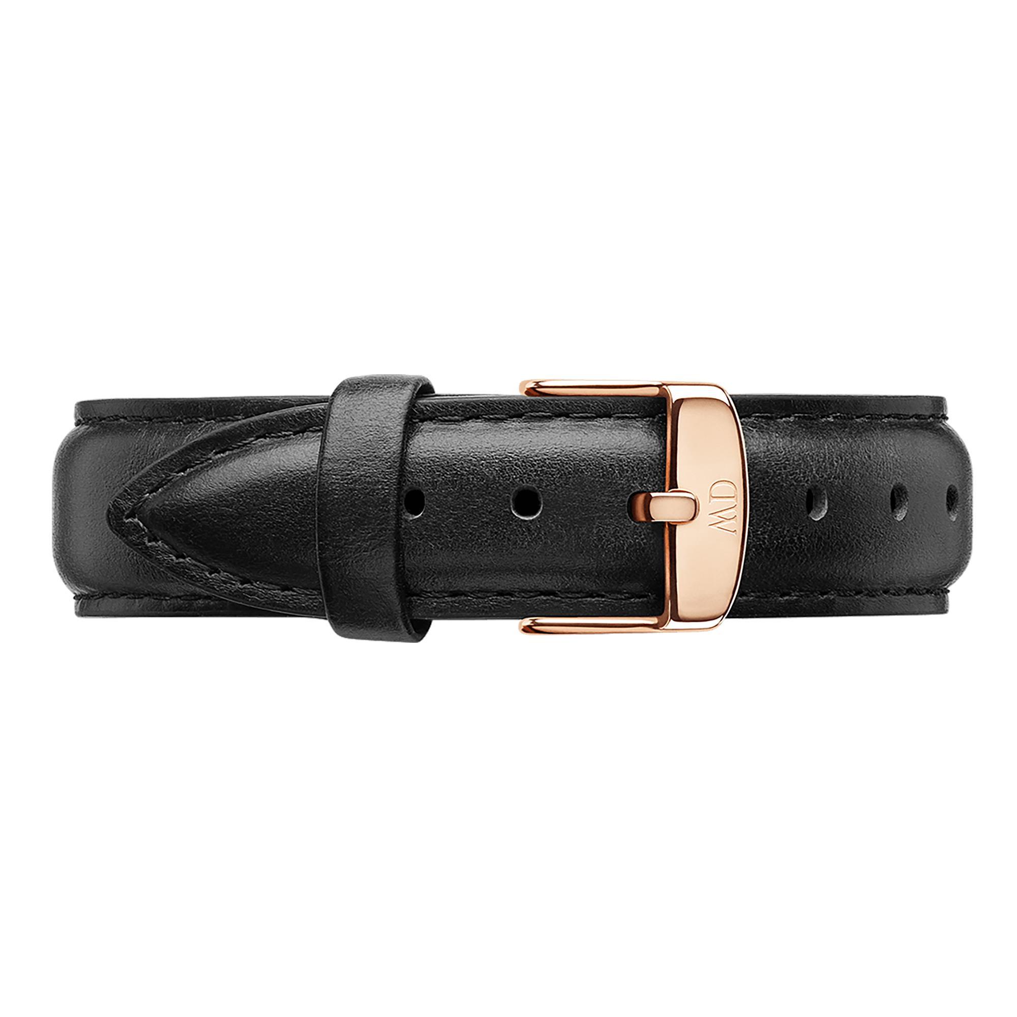 Cinturino Classic Sheffield Pelle Nero Oro Rosa 18mm DW00200036 - DANIEL WELLINGTON