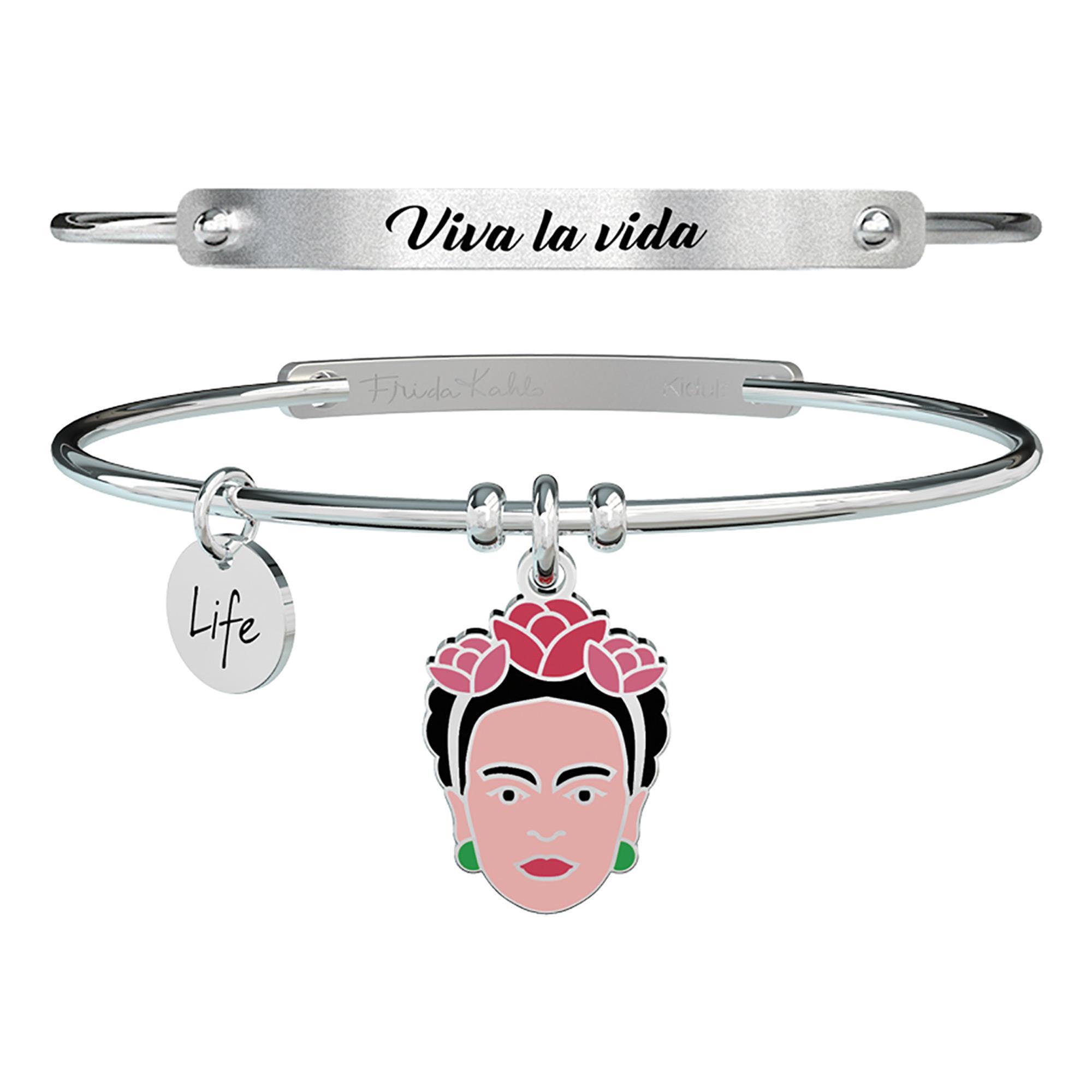 Bracciale Viva La Vida Frida Kahlo Symbols Acciaio Donna 731603 - KIDULT