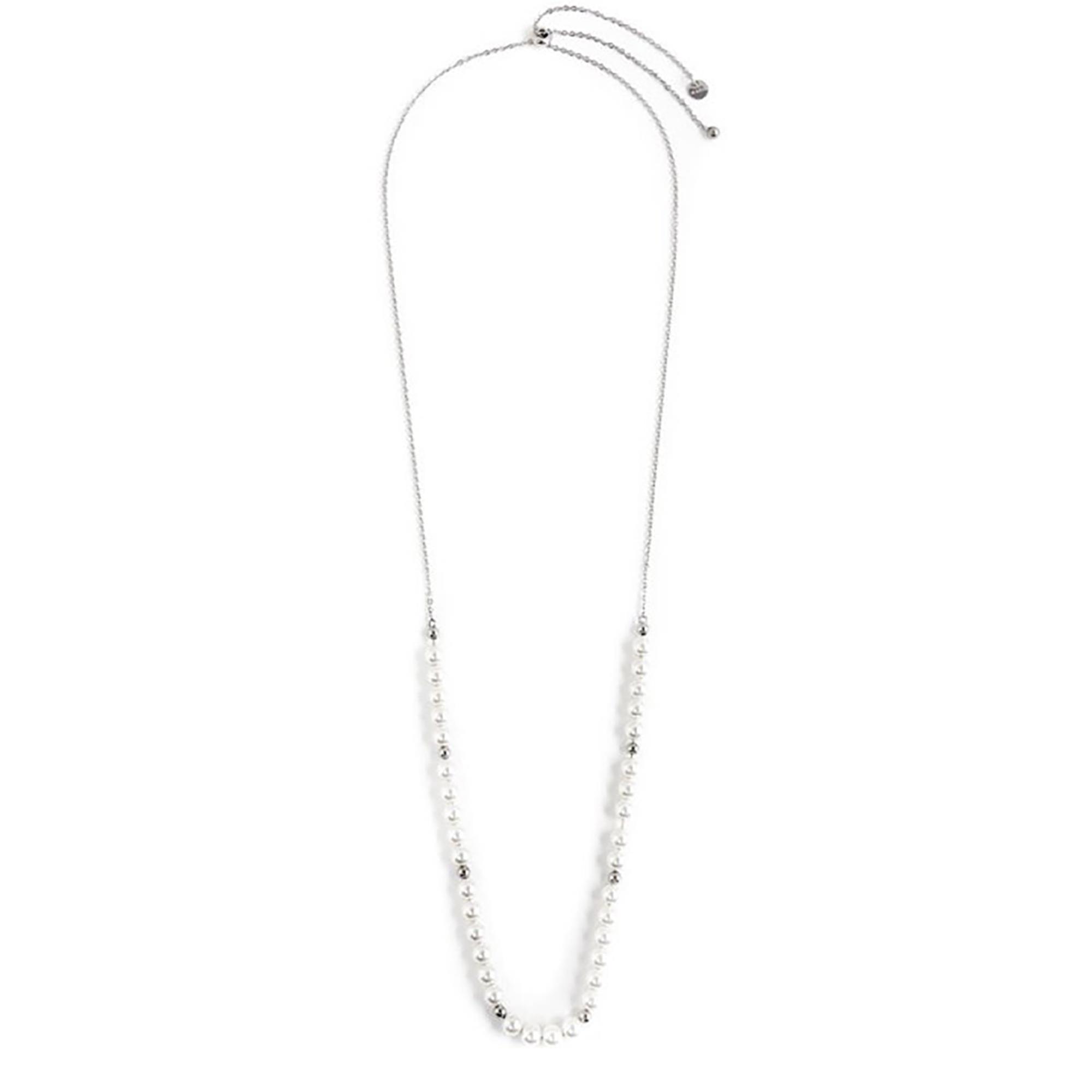 Collana Lunga Con Perle Sintetiche 6 Mm - MARLÙ