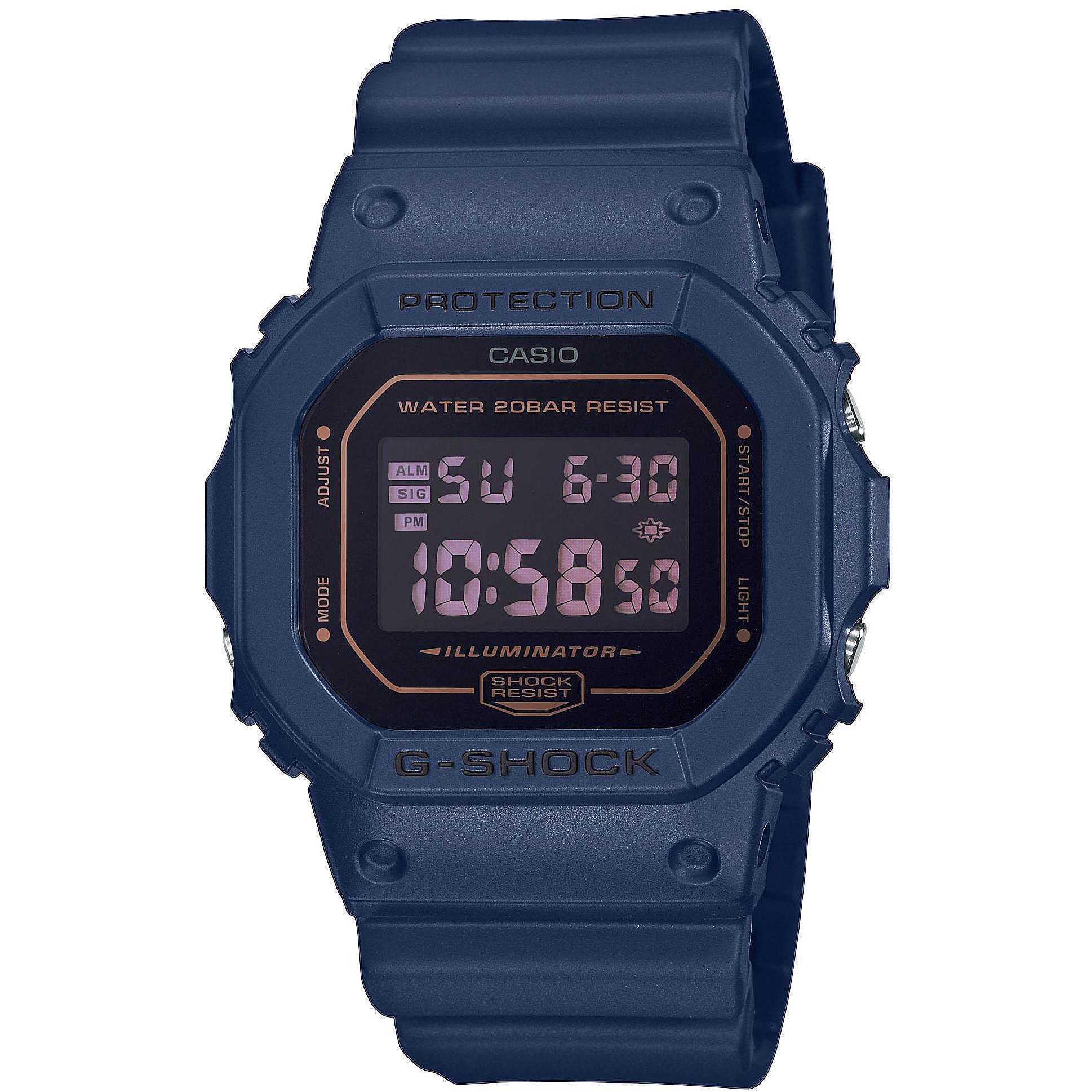 Orologio Quarzo Uomo Casio G-Shock Specials Gomma Blu Dw-5600BBM-2ER - CASIO