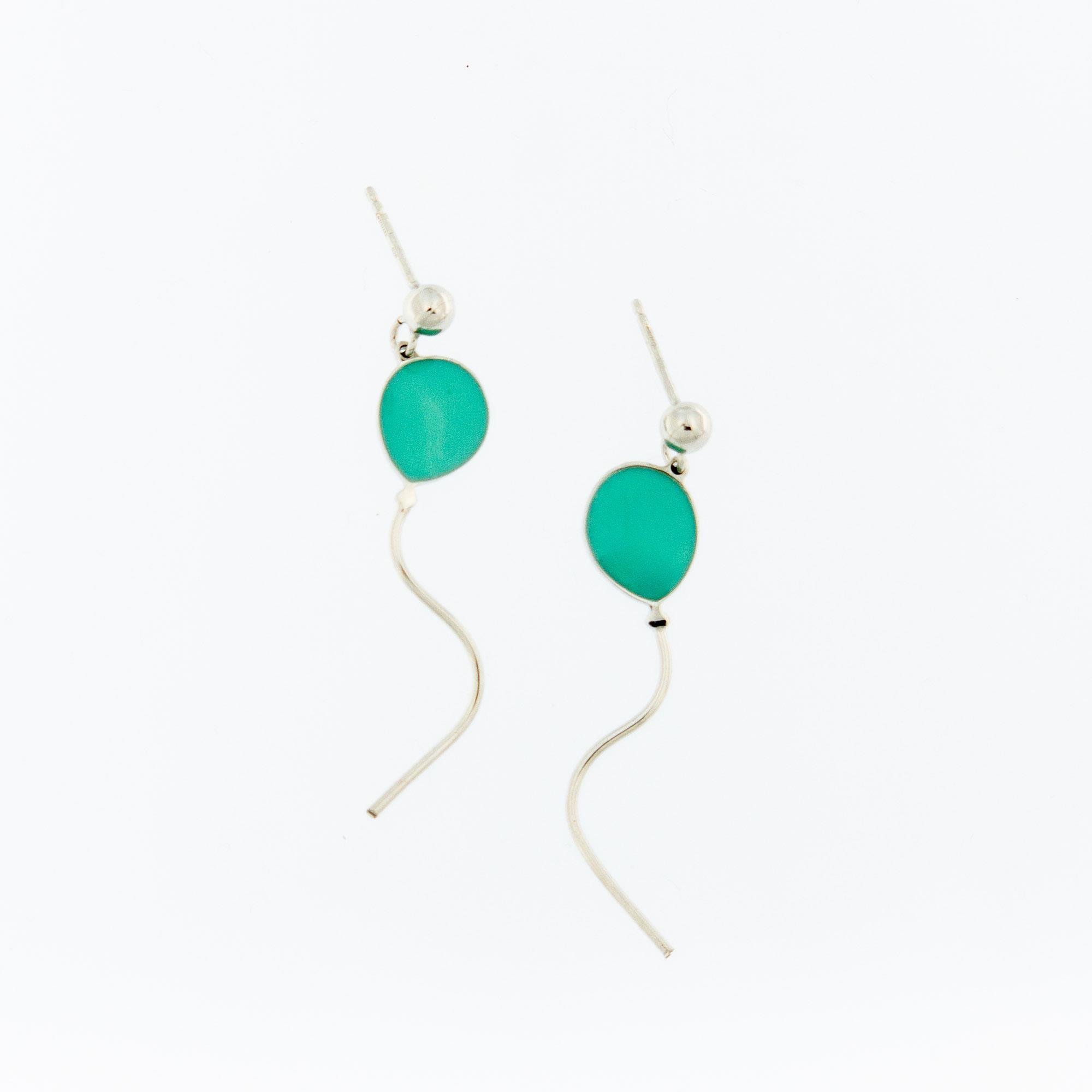 Orecchini Palloncini Verde Tiffany Donna - JÒYELLO