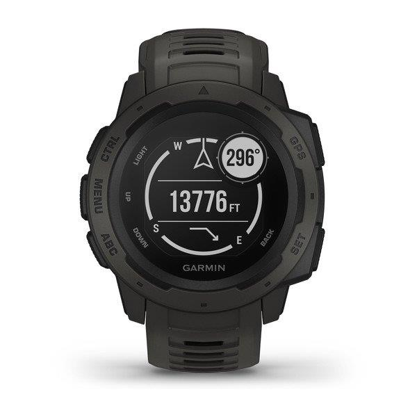 GARMIN INSTINCT, GPS WATCH, GRAPHITE,BLACK - GARMIN