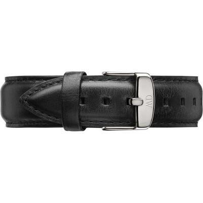 Cinturino Classic Sheffield Pelle Nero Acciaio Argento 20mm DW00200020 - DANIEL WELLINGTON