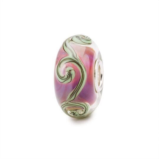 Beads Tracce Viola in Argento e Vetro - TROLLBEADS