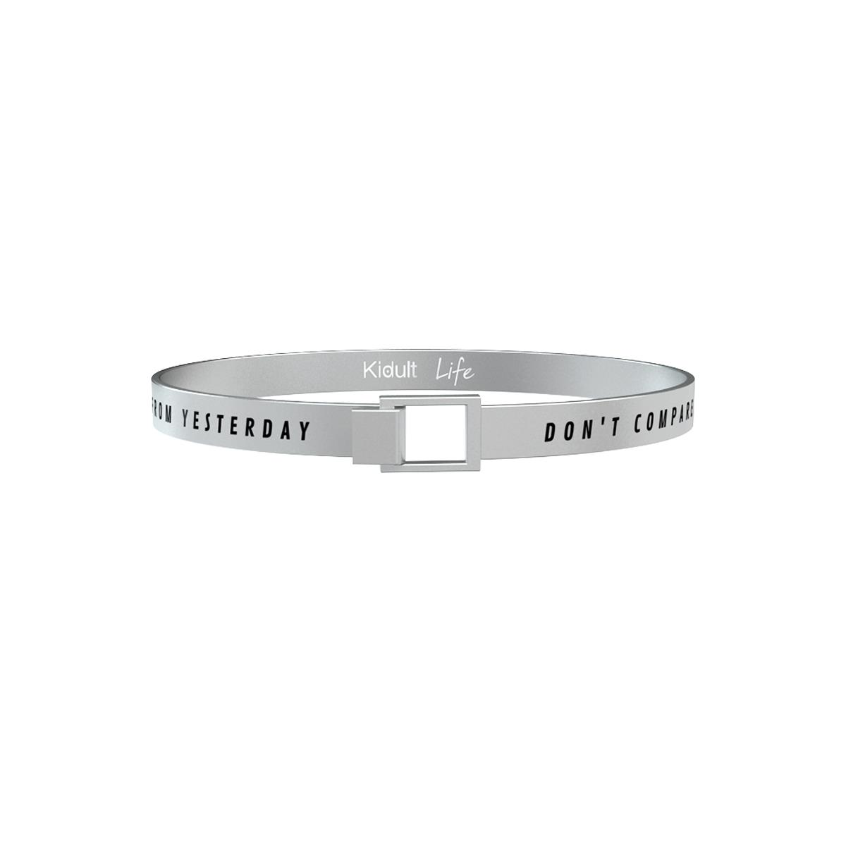 Bracciale Philosophy Uomo in Acciaio Don't compare yourself to others 731199 - KIDULT