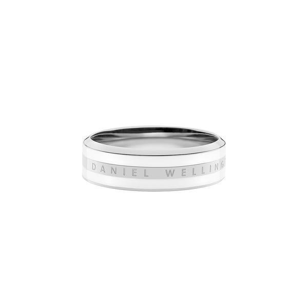 Anello Classic Ring Satin White Silver 54 Unisex DW00400049 - DANIEL WELLINGTON