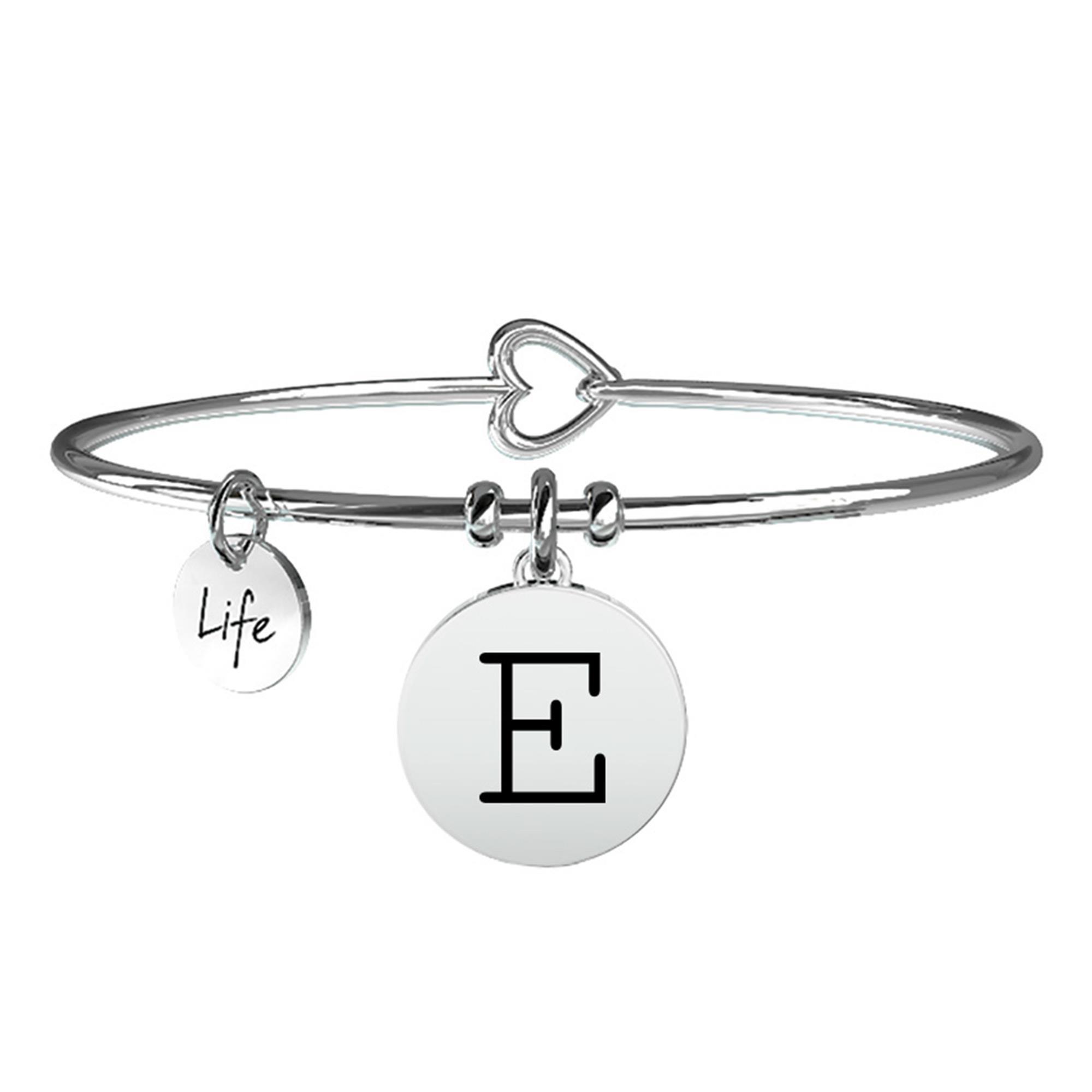 Bracciale Lettera E Symbols Iniziale Emozioni Acciaio Donna 231555E - KIDULT