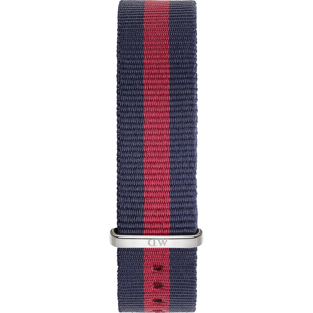 Cinturino Classic Oxford Nato Blu Rosso Argento 18mm DW00200001 0801DW - DANIEL WELLINGTON