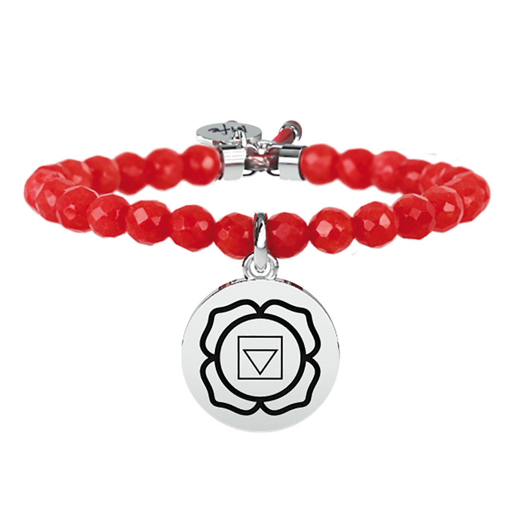 Bracciale Spirituality I Chakra Giada Rossa | Equilibrio - KIDULT