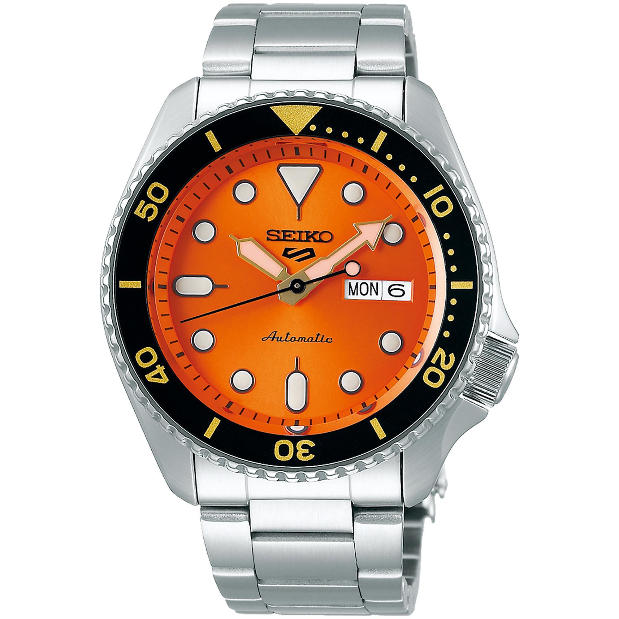 Orologio Seiko 5 Sports Automatico Acciaio Uomo Arancione - SEIKO