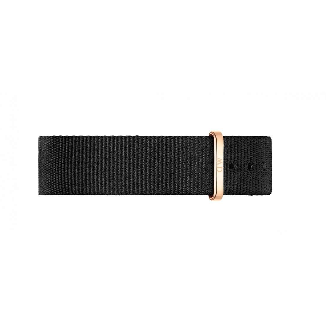 Cinturino Classic Black Cornwall Nato Nero 18mm Fibbia Oro Rosa - DANIEL WELLINGTON