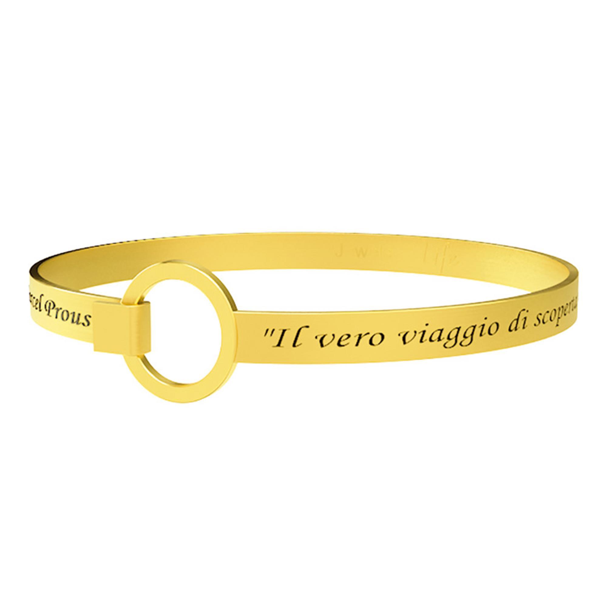 Bracciale Philosophy Il Vero Viaggio Di Scoperta Marcel Proust Acciaio Oro Donna 231717 - KIDULT