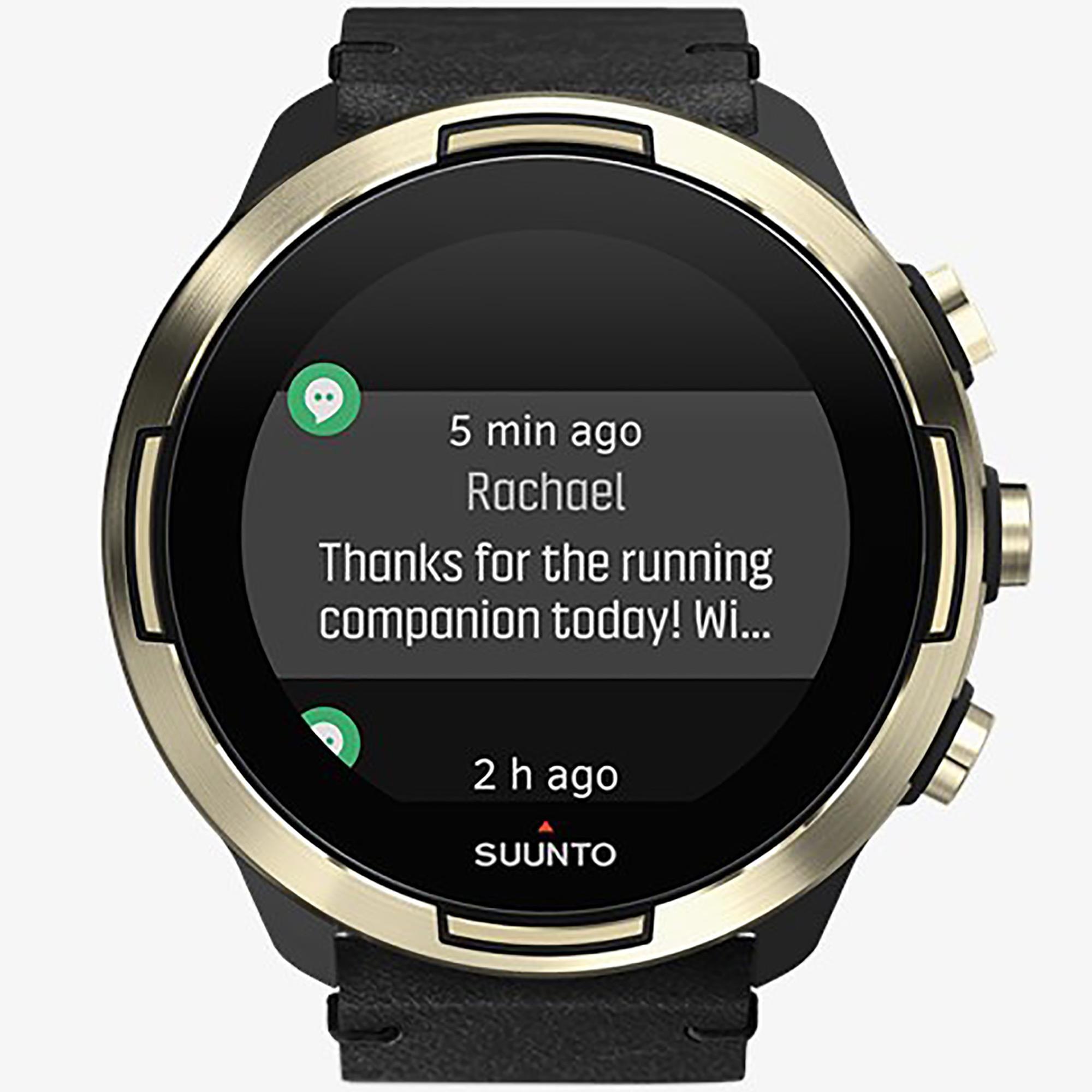 Smartwatch Suunto 9 Baro Gold Leather Orologio Sport Uomo - SUUNTO